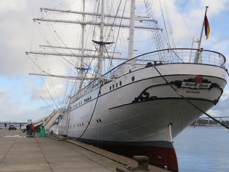 Gorch-Fock, Schulschiff in Stralsund